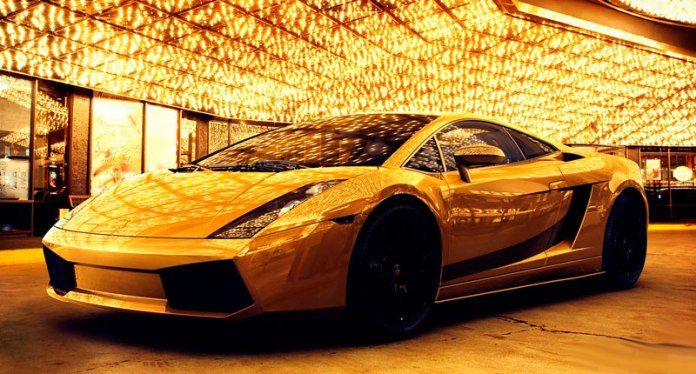 4 - Sports Cars gold plated