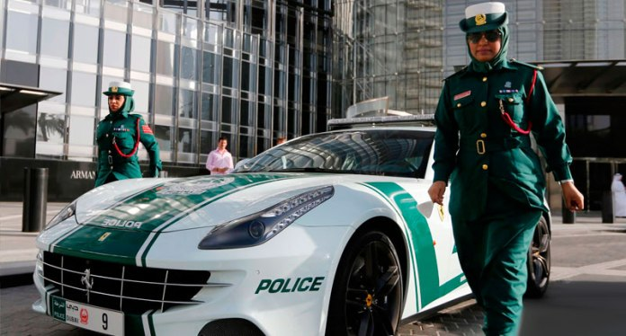 5 - And police with incredible Ferrari
