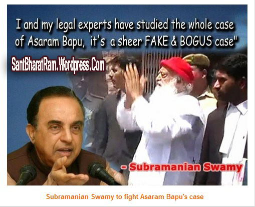 Subramanian Swamy to fight Asaram Bapu's case